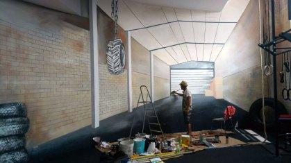 2BE FIT GYM - Murales - Detail - (Ascanio Cuba)