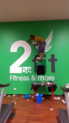 2BE FIT GYM - Murales - Detail - (Ascanio Cuba)
