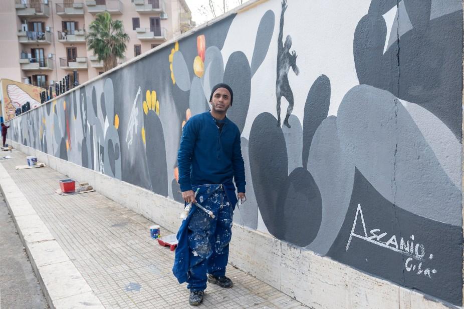 CASTELLAMMARE, L'ARTE DI STRADA E IL MURO DI ASCANIO - News - (Ascanio Cuba)