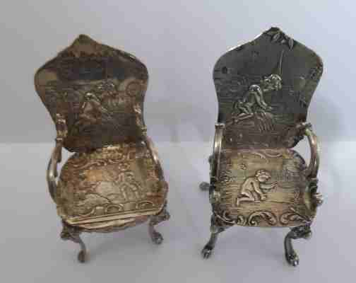 Two fine examples of German chairs