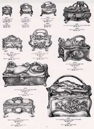 American Art Metal Jewelry Boxes 1900-1925: an article for