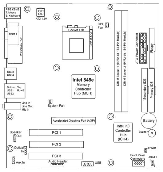 8 Pin Ethernet Wiring Diagram 5187 2141 5187 3470 Hp Xenon3 Glae S 478 P4 Motherboard