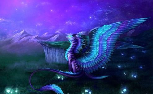 purplefeatheredwingdragon