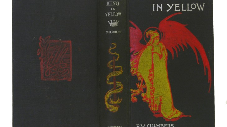 An early cover of the King in Yellow, with Chambers' own artwork. Picture retrieved from https://bibliodeviant.wordpress.com/2011/07/22/book-of-the-week-strikes-back/