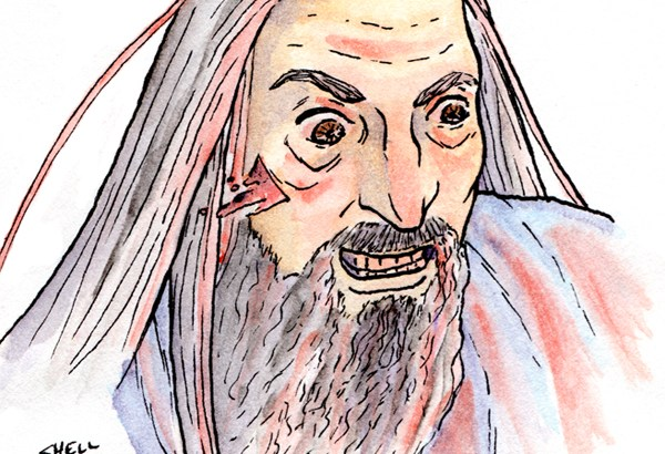 Christopher Lee as Saruman, by Shell Pesto