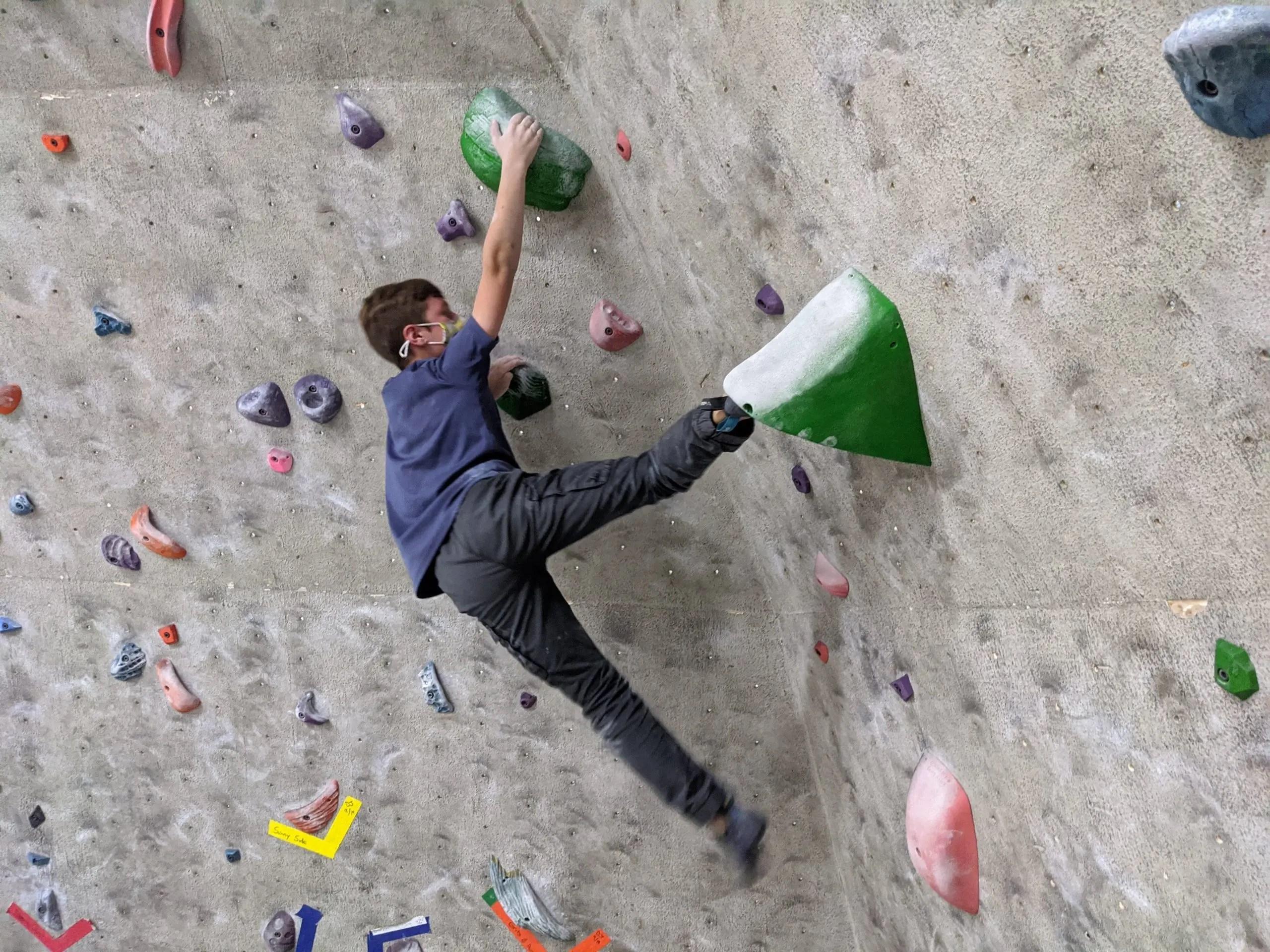 climber climbing at league night