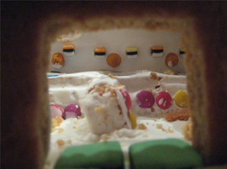 Gingerbread Laboratory Front Door