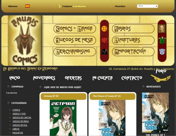 Anubis Comics - Oscommerce