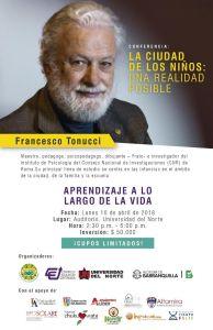 Francesco Tonucci en la UniNorte
