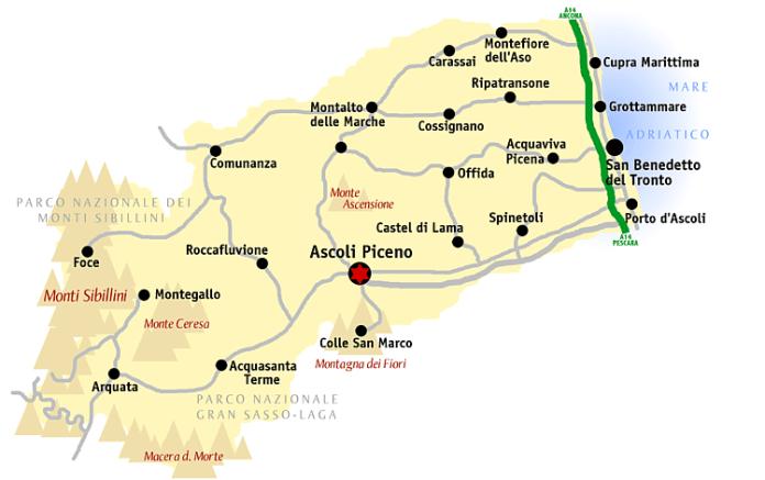 Mappa di Ascoli
