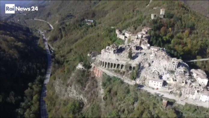 Arquata del Tronto dopo il terremoto del 2016