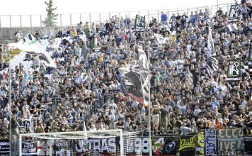 La curva dell'Ascoli Calcio, foto da pagina Facebook ufficiale