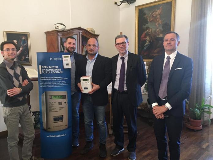 La presentazione dei nuovi contatori di E-Distribuzione, foto da ufficio stampa Comune