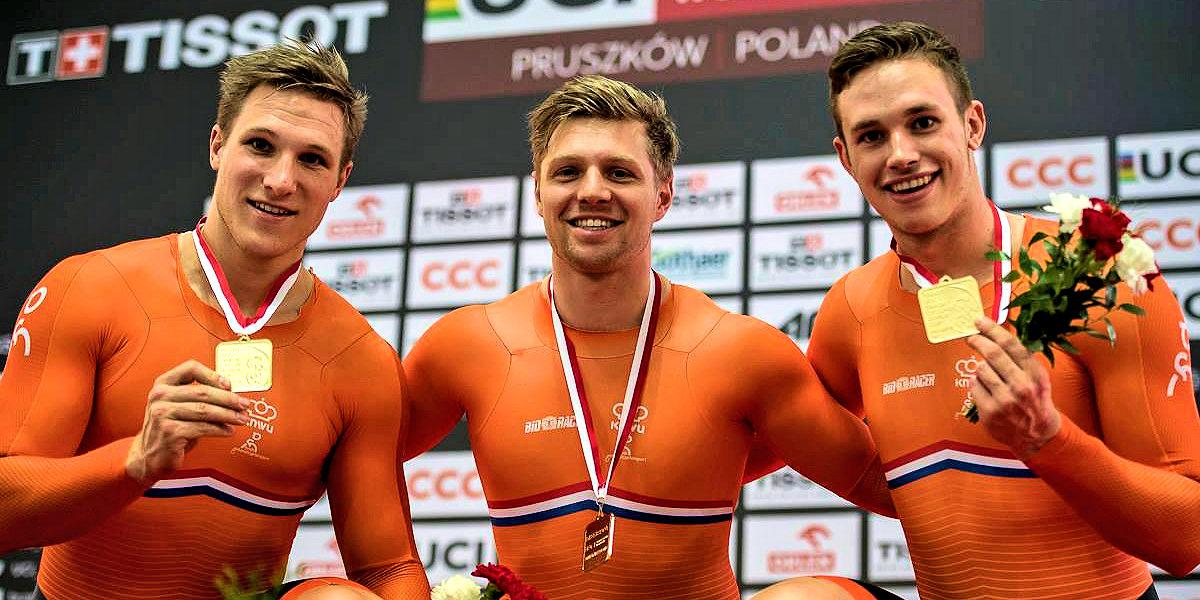 ASC Olympia - Goud voor Nils van 't Hoenderdaal, Harrie Lavreysen en Jeffrey Hoogland