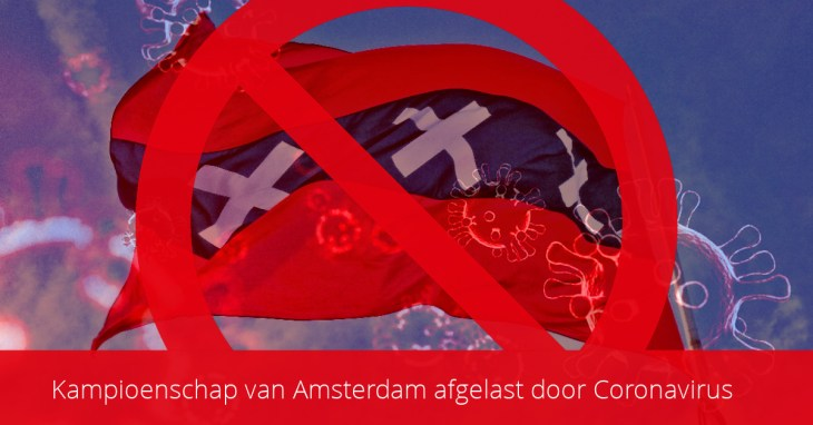 ASC Olympia - Kampioenschap van Amsterdam afgelast door Coronavirus