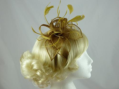 Wedding Hats 4U Vivienne Fascinator In Gold