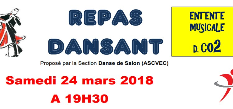 Repas dansant de la section danse de salon