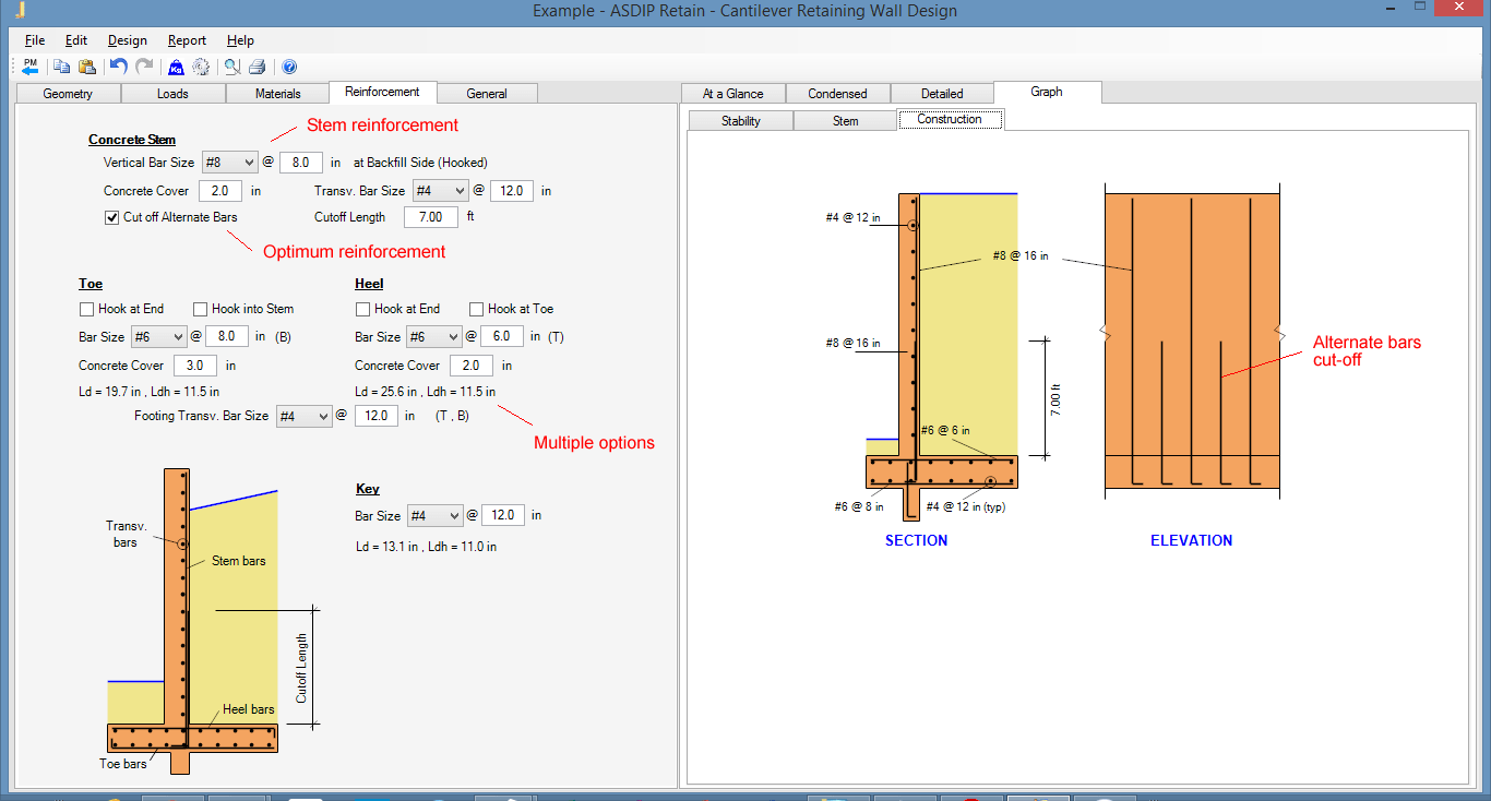 Cantilever Retaining Wall Design Example
