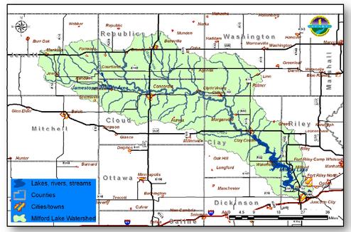 milford lake map