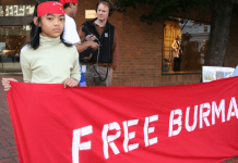 Political unrest in Burma excludes no one, even the children.