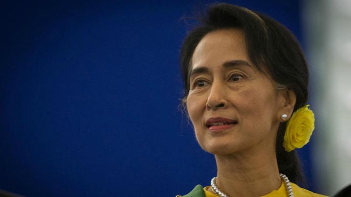 Myanmar's State Counselor Aung San Suu Kyi.