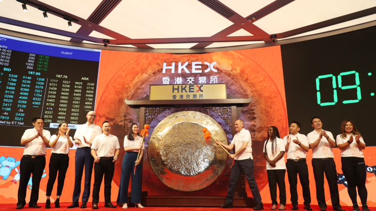 10 customers and partners from eight different markets on four continents in Alibaba's digital economy and ecosystem to strike the gong at Alibaba's listing ceremony in Hong Kong