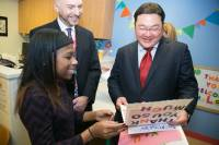 Billionaire Jho Low at the Children's National Hospital in Washington DC