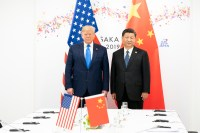President Donald J. Trump joins Xi Jinping, President of the People's Republic of China, at the start of their bilateral meeting Saturday, June 29, 2019, at the G20 Japan Summit in Osaka, Japan.