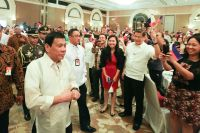 President Rodrigo Duterte meets with Filipino community in Indonesia during his working visit in the country on September 9