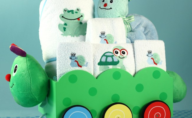 Unique Baby Boy Gift Caterpillar Wagon Gift Set