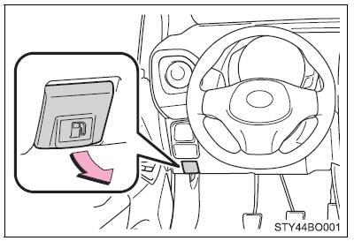 Toyota Aygo: Abertura do tampão do depósito de combustível