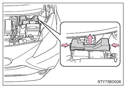 Toyota Aygo: Verificação e substituição dos fusíveis
