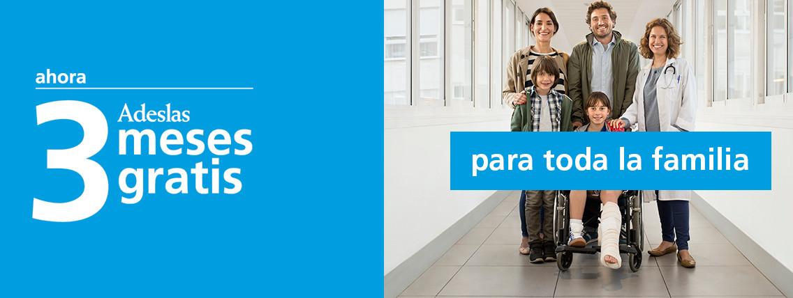 Nueva campaña Adeslas Salud con 3 meses gratis.