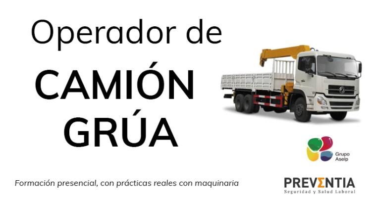 CURSO CAMIÓN GRÚA EN PONTEVEDRA