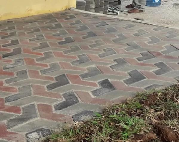 corak paving block 3d