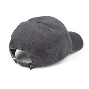 picture of stonewashed gray baseball cap from the back