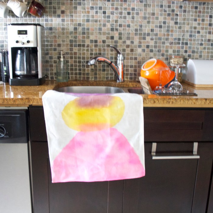 Cotton Tea Towel - Purple | Yellow - Featured in Uppercase Magazine