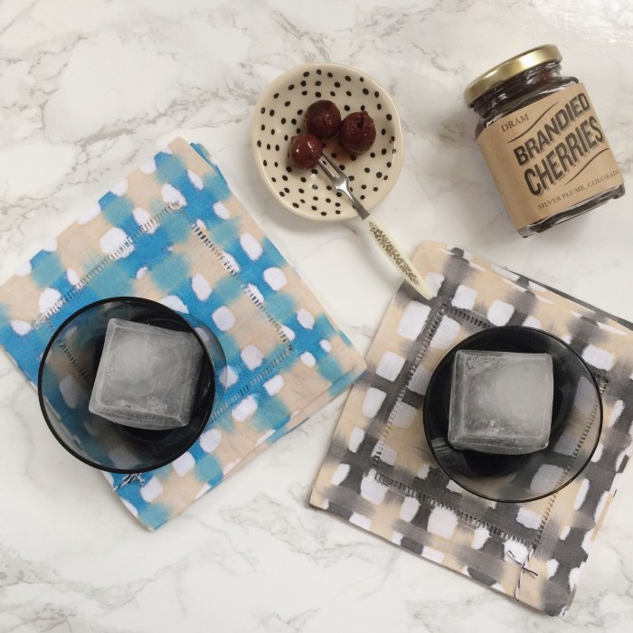 Black/Cream Plaid Cocktail Coasters
