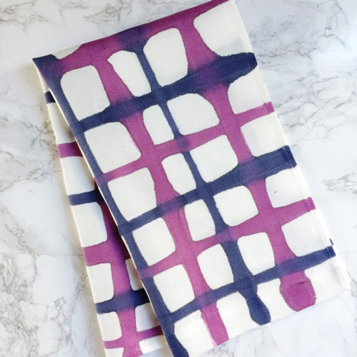 Purple Garnet Grid Dish Towel