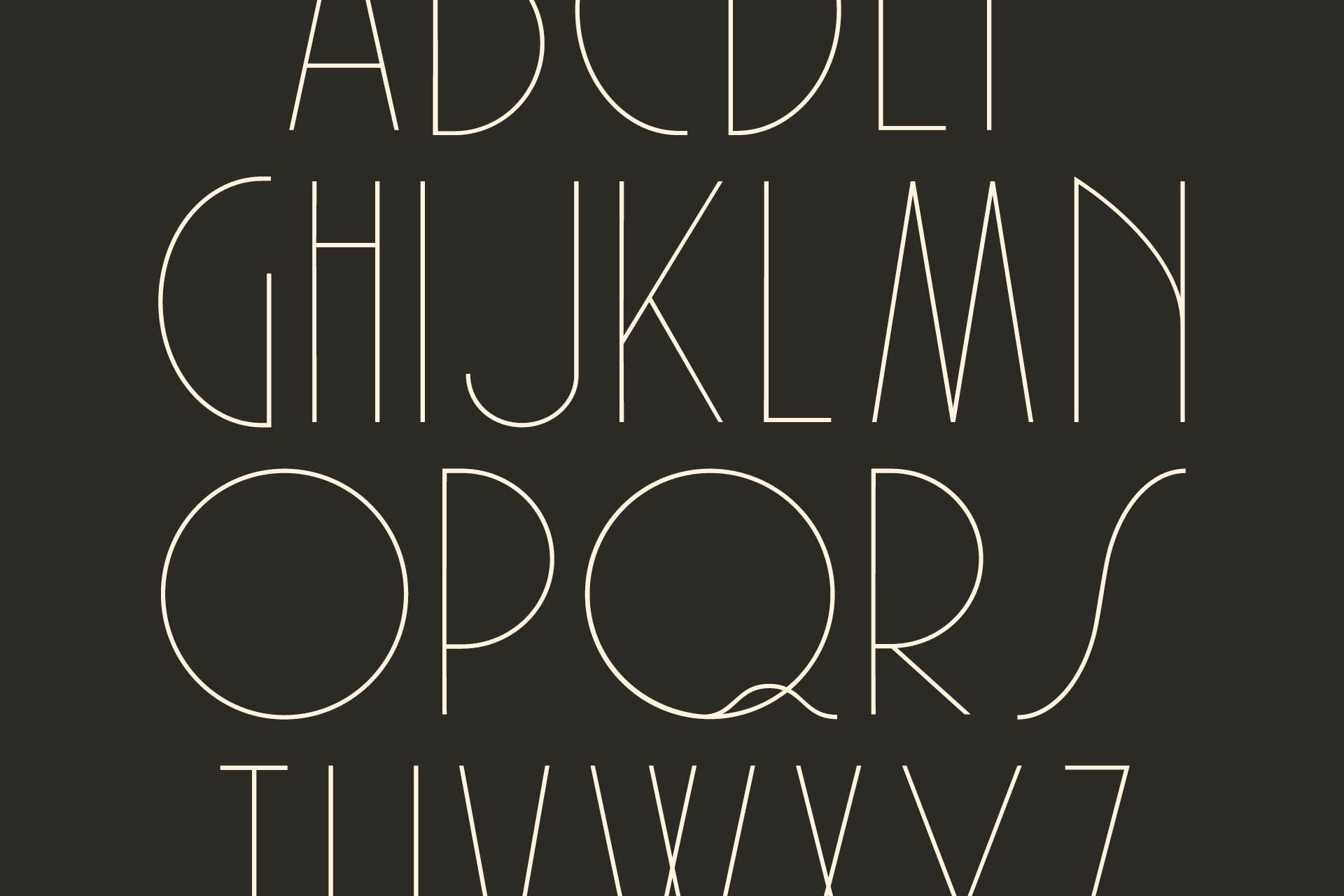 Typographie art déco