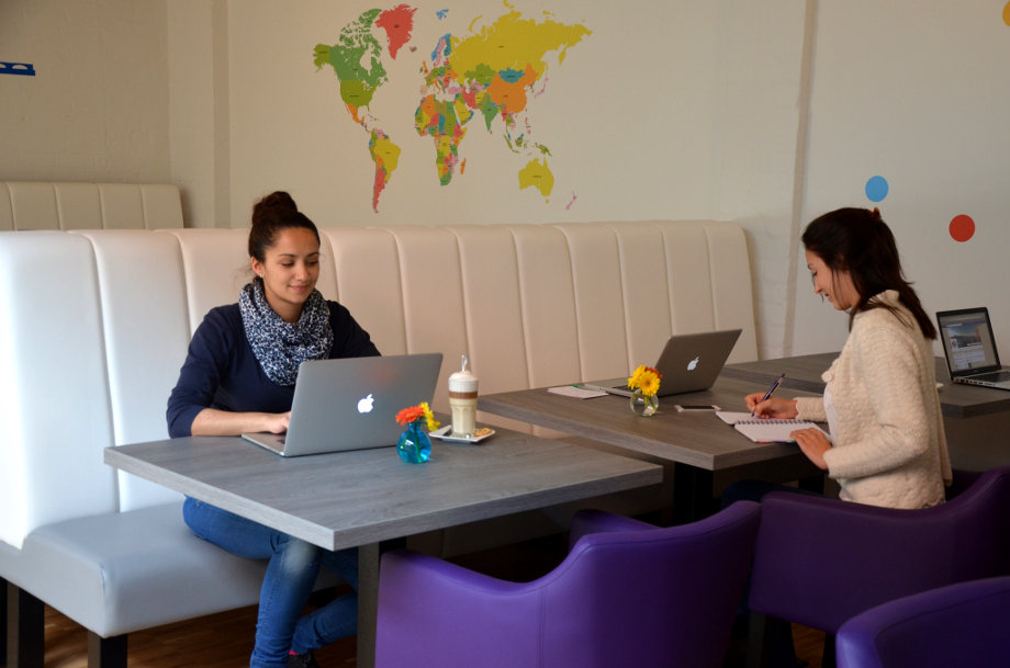 Shared office in a coworking space