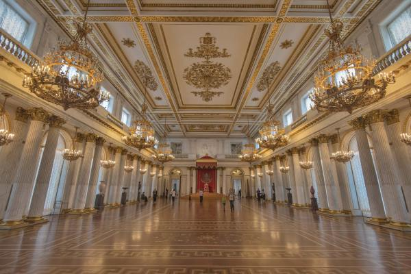 2223-13 Throne Hall In Hermitage Museum. St