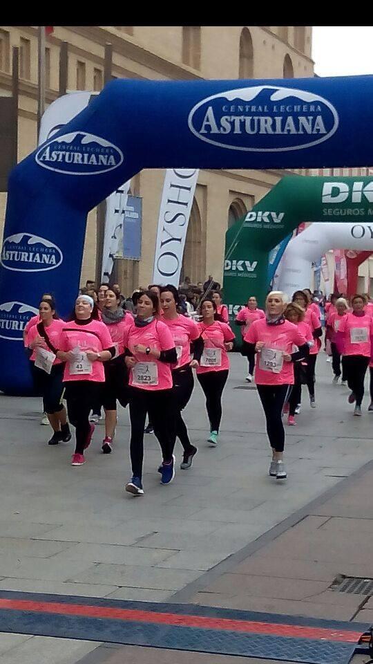 El Club de Running de ASERHCO superó expectativas en la Carrera de la Mujer en Zaragoza