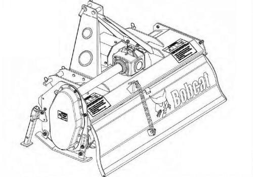 Bobcat 3TIL48 3TIL60 3TIL74 Three-Point Tiller Service