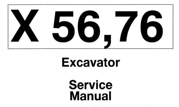 Bobcat 56, 76 Mini Excavator Service Repair Manual