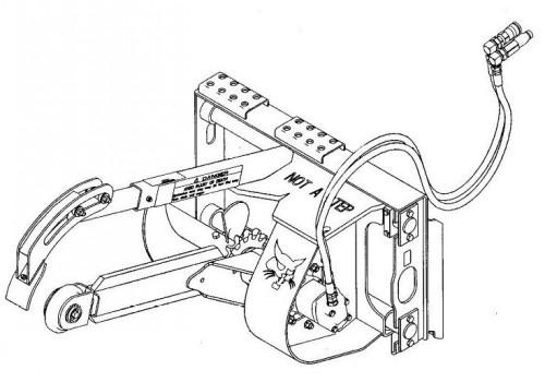 Bobcat LT122 MX122 LT113 LT213 LT313 LT414 Trencher