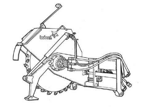 Bobcat WS12 WS18 Wheel Saw Service Repair Manual