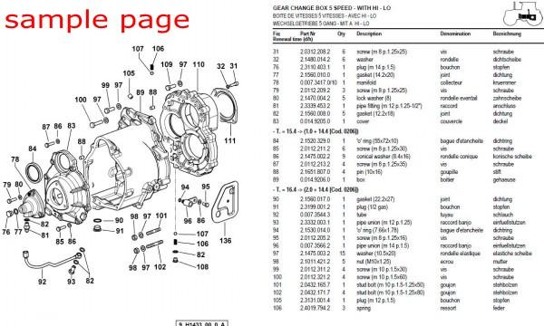 Massey Ferguson MF 165 TRACTOR (GB) Service Parts