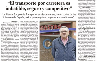 «El transporte por carretera es imbatible, seguro y competitivo»