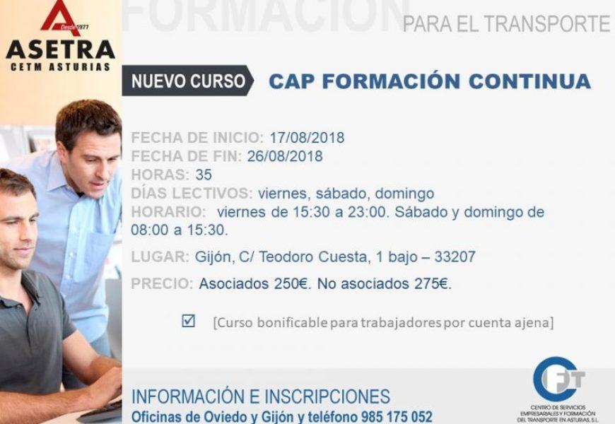 Próximo  curso CAP Formación Continua